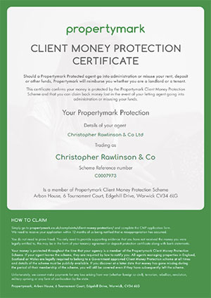 Client Money Protection - Security Certificate